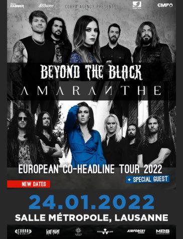 Beyond The Black & Amaranthe EUROPEAN CO-HEADLINE TOUR 2022